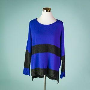 Eileen Fisher L Yak Wool Stripe Color Sweater